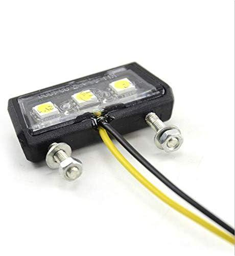 Queta Led Kennzeichenbeleuchtung Universal Motorrad Nummernschildbeleuchtung 12v Mini Micro Kennzeichenbeleuchtung Nummernschild Beleuchtung Motorrad Auto