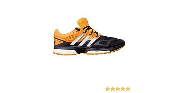 adidas Zapatillas Response Boost Tech -Negro/Amarillo-: Amazon.es: Deportes y aire libre
