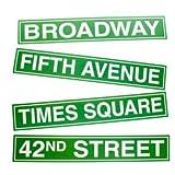 New York City Street Sign Cutouts, Health Care Stuffs