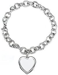 06c2cd994 Finejewelers Sterling Silver 8 Inch Heart Charm Bracelet