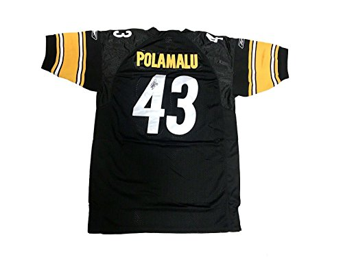 (Signed Troy Polamalu Jersey - Home Black - JSA Certified - Autographed NFL Jerseys)