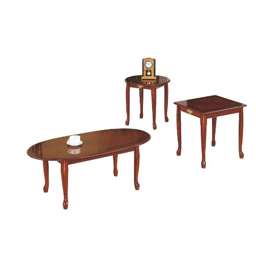 Amazoncom CHERRY COFFEEEND TABLE SET Kitchen Dining