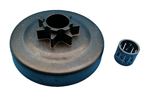 Tuzliufi Replace Clutch Drum Sprocket Needle Bearing Husqvarna 31 340 345 346 346XP 350 445 445E 450 450E 578097901 Jonsered 2145 2150 McCulloch PM5000 .325