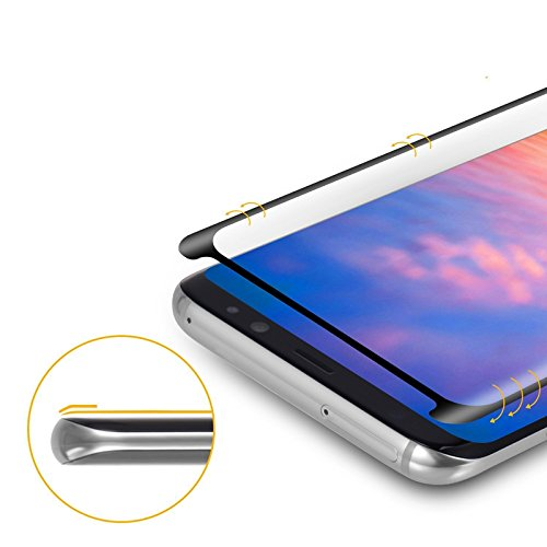 Bakeey Full Adhesive 3D Curved Edge Case Friendly Tempered Glass Screen Protector For Samsung Galaxy S8