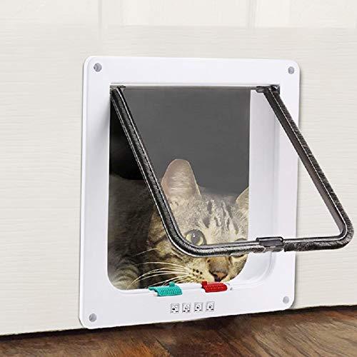 3 Size 4 Way Pet Cat Puppy Dog Gates Door Lockable Safe Flap Door Pet Products ZDD3898