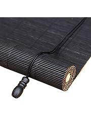 Bamboe jaloezieën Rolgordijnen Zwarte gordijnen Bamboe gordijnen met zwarte schroefdraad Grote gordijnen met zwarte schroefdraad Decoratieve gordijnen Scheidingsgordijnen Deurgordijnen