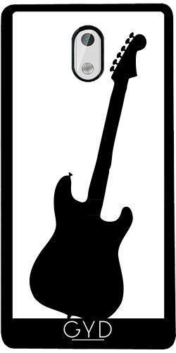 Funda de silicona para Nokia 3 - Silueta De La Guitarra by loki1982