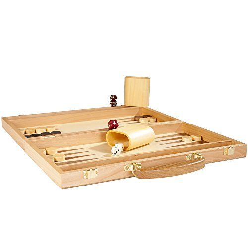 Deluxe Wooden Backgammon Set by Trademark Games