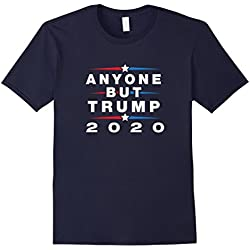 Mens Anyone But Trump 2020 - Anti Trump Election Shirt Large Navy