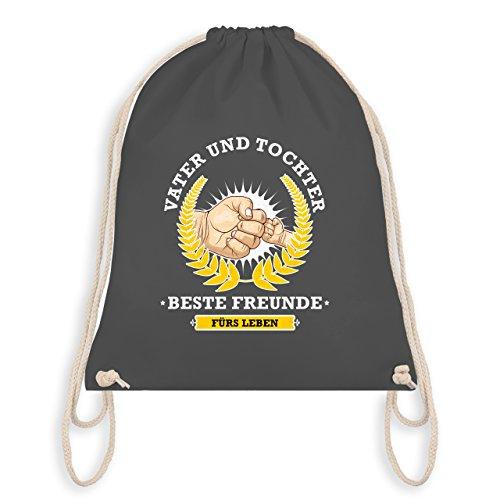 Shirtracer Vatertag - Vater und Tochter - beste Freunde fürs Leben - Turnbeutel I Gym Bag Dunkelgrau c5wAQ
