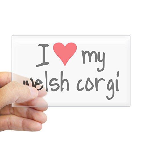 CafePress I Love My Welsh Corgi Rectangle Bumper Sticker Car Decal