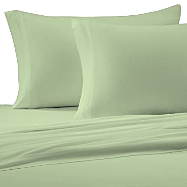 Brielle Cotton Jersey Knit (T-Shirt) Sheet Set, Queen, Sage