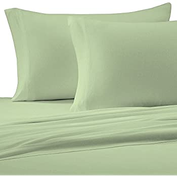 Charmant Brielle Cotton Jersey Knit (T Shirt) Sheet Set, Queen, Sage