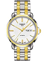 Tissot T-Classic Automatic III White Dial two-tone Mens Watch T0654302203100