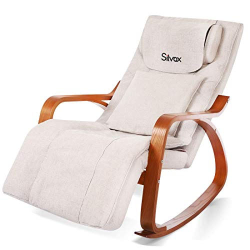 Silvox Massage Chair Recliner - Shiatsu Back Neck and Shoulder Massager with Heat- Deep Kneading Rollers Self-Massager Seat with Vibration, Electric Full Body Massage Chair, Relieve Muscle Pain