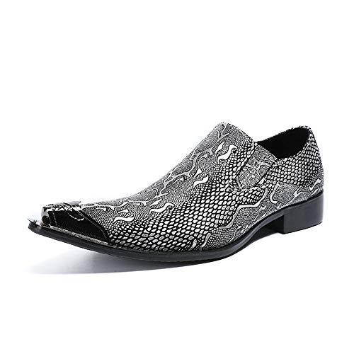 per modello Scarpe vintage 1 Business antiscivolo scarpe EU punta creativo in uomo pelle Chlyuan 39 3 da Dimensione a gli uomini impermeabile q6dnX
