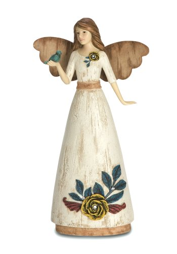 Pavilion Gift Company Simple Spirits 41014 Angel Figurine Holding Bird, 6-Inch, Aunt