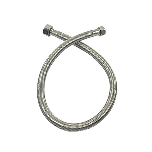 Straight Water Supply (PHASAT 24-Inch Long Faucet Connector, 3/8
