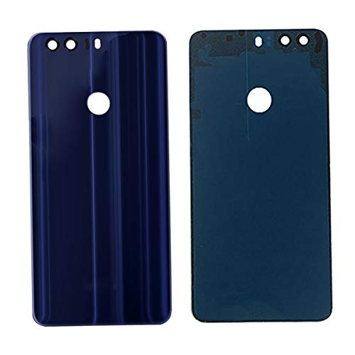 100% Glass Back Battery Door Case Cover Housing For Huawei Honor 8 (blue)