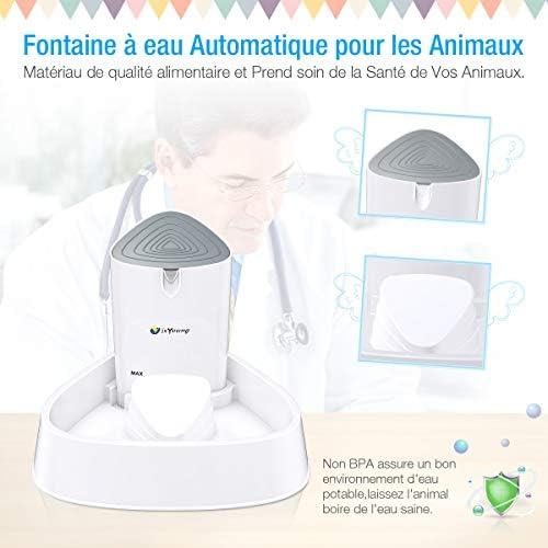 isYoung Chat Chien Fontaine à Eau LED 1.5L