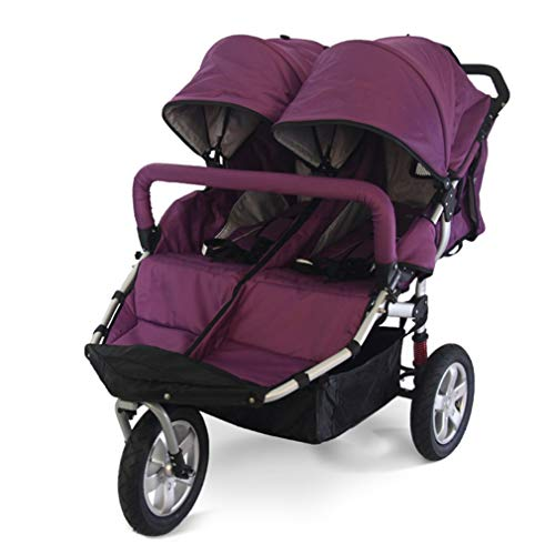 City Select Double Stroller, Lightweight Compact All Terrain Double Pushchair, Extra-Large Storage Baby Pushchair, Versatile Side by Side Tandem Umbrella Stroller