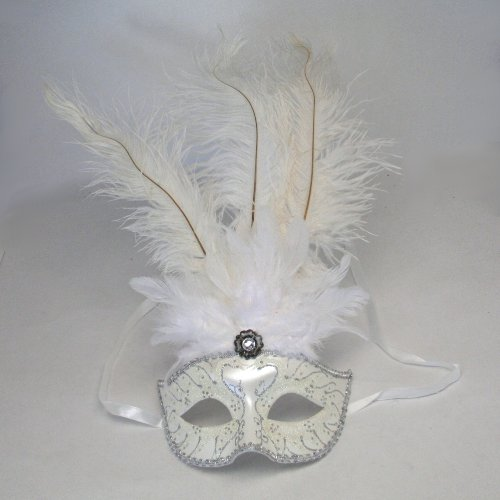 KBW Global Corp White Feather Mask
