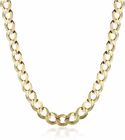 Men's 14k Gold 5.7mm Cuban Chain Necklace