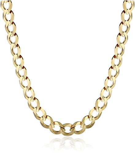 Men's 14k Yellow Gold 5.7mm Cuban Chain Necklace, 22""