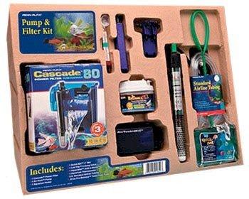Penn-plax Fish & Aquatic Supplies Cascade 10 Gallon Filter And Pump Starter Kit 8' Aquarium Heaters
