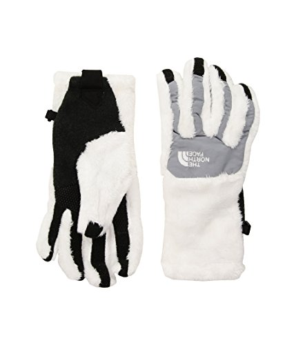 The North Face Denali Thermal Etip Glove Womens TNF White/Mid Grey Medium