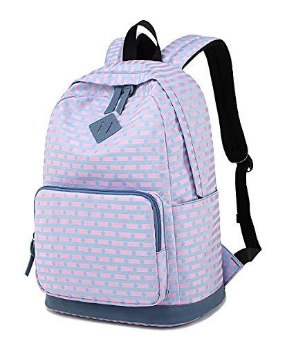- LuckyZ Women Casual Backpack Spot Lightweight Canvas Daykpack Cute Laptop School Bag Backpacks Blue Stripe