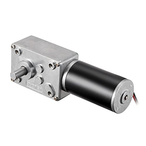 uxcell DC 12V 160RPM Worm Gear Motor 3kg-cm Reversible High Torque Speed Reduce Turbine Electric Gearbox Motor 8mm Shaft