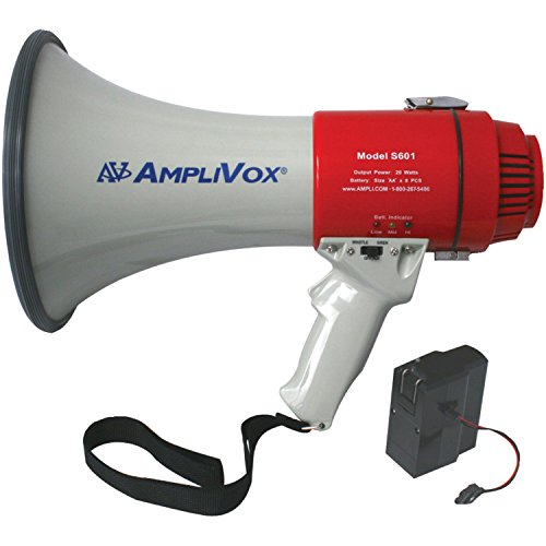 picture of Amplivox SB601R Mity-Meg 15-Watt Megaphone (Bundled with Rechargeable Battery)