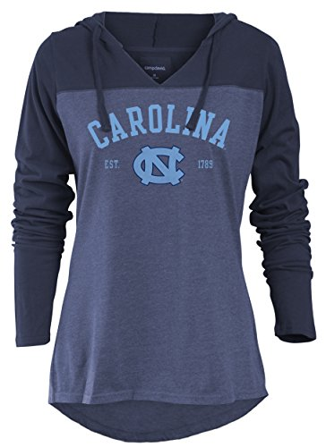 North Carolina Tar Heels Tie (NCAA North Carolina Tar Heels Women's Color Block Long Sleeve Hoodie, X-Large, Marine)