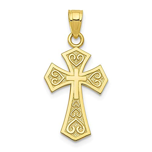 Jewelry Pendants & Charms Themed Charms 10k Reversible Cross Charm ()