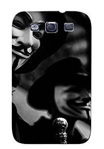 Fashion Tpu Case For Galaxy S3- Anonymous Defender Case Cover For Lovers