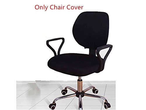 Doptou Polyester Stretchable Office Computer Chair Cover Machine Washable Universal Chair Cover (Black)