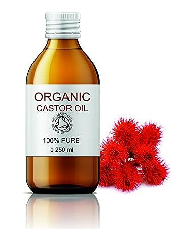 ECOLÓGICO Aceite de Ricino 100% Puro Natural 250 ml - Castor Oil Organic - Propiedades Fabulosas - Aceite de Belleza Anti bolsas, Suavizante Cabello, ...
