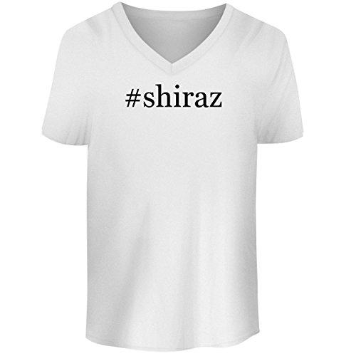 BH Cool Designs #Shiraz - Men's V Neck Graphic Tee, White, ()