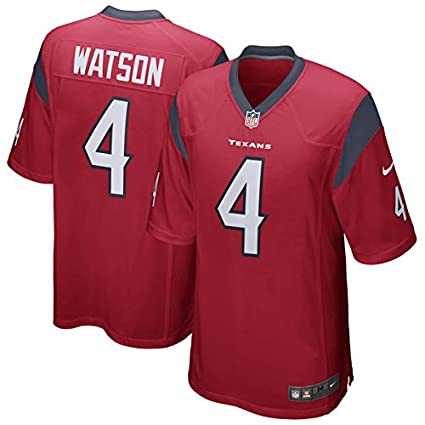Amazon.com   Nike Deshaun Watson Houston Texans Game Jersey Red ... 4daa9f9ff