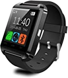 CASVO Intex Aqua Star 4G Compatible Smart Android U8 Bracelet Watch and Activity Wristband, Wireless Bluetooth Connectivity Pedometer, Black,