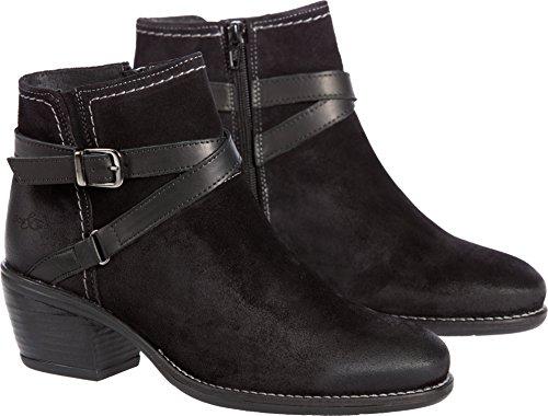 Co Waterproof Suede Boot - Women's Bos & Co Greenville Waterproof Suede Ankle Boots, BLACK/BLACK, Size EU36