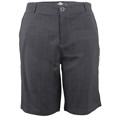 (Mens Casual Shorts With Cell Phone Pocket Walking Tall Stretch Pants Lightweight Dress Cargo Shorts for Men Black 34)