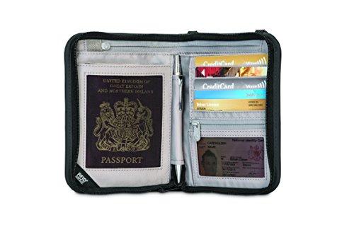 41fjZ4cYp%2BL - Pacsafe Rfidsafe V150 Anti-Theft RFID Blocking Compact Passport Wallet, Black