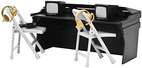 Black Breakaway Commentator Table Playset for WWE Wrestling Action Figures