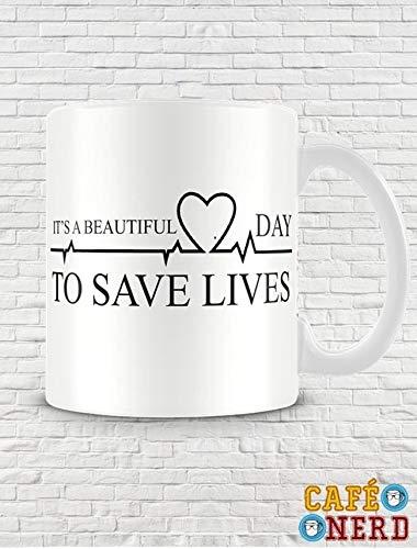 CANECA GREY'S ANATOMY SAVE LIVES