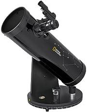 National Geographic telescoop 114/500 Compact met azimutale tafelmontage, accessoirehouder en LED-lichtpuntzoeker in compacte Dobson constructie, zwart