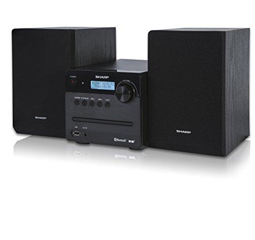 SHARP XL-B515D (BK) Micro Sound System, digitale radio met FM, DAB/DAB+, Bluetooth en USB Playback, CD-MP3, 40 Watt…