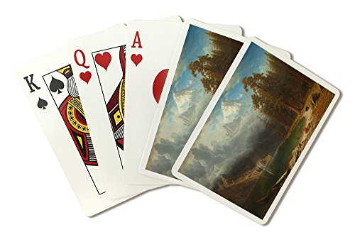 Mount Corcoran - (Artist: Albert Bierstadt c. 1876) - Masterpiece Classic (Playing Card Deck - 52 Card Poker Size with Jokers)