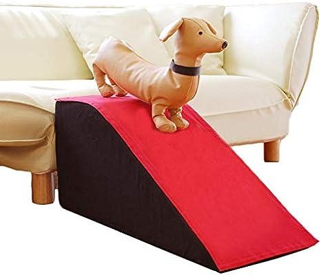 Rampa para Perros, Escalera de Esponja de Escalada para Mascotas pequeñas/Medianas para sofá Cama, portátil Lavable - Rojo (Carga de 50 kg) (Size : 40cm): Amazon.es: Hogar